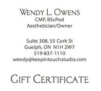 Keep In Touch Studio Aesthetics Gift Certificates Spa Packages