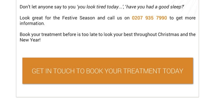 get in touch today to book an appointment in time for christmas