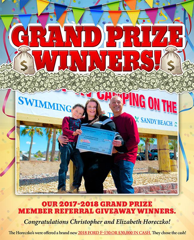 2018 MEMBER REFERRAL GIVEAWAY WINNERS!