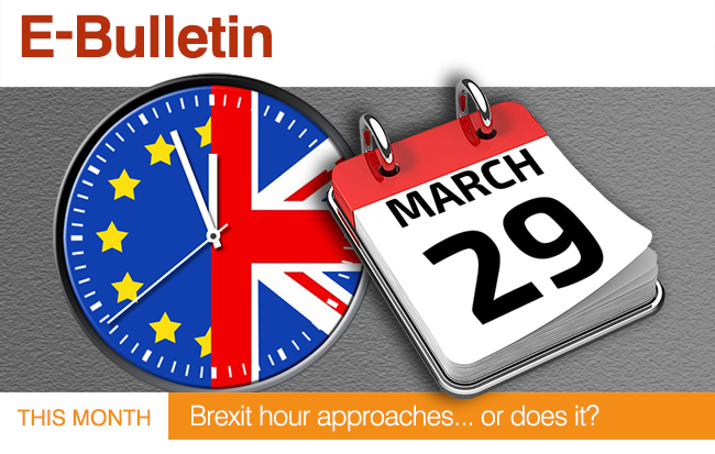 This Month : Brexit hour approaches...