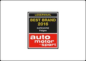 """Premium Wheel Manufacturer BBS retains """"Best Wheels"""" title for 2016"""