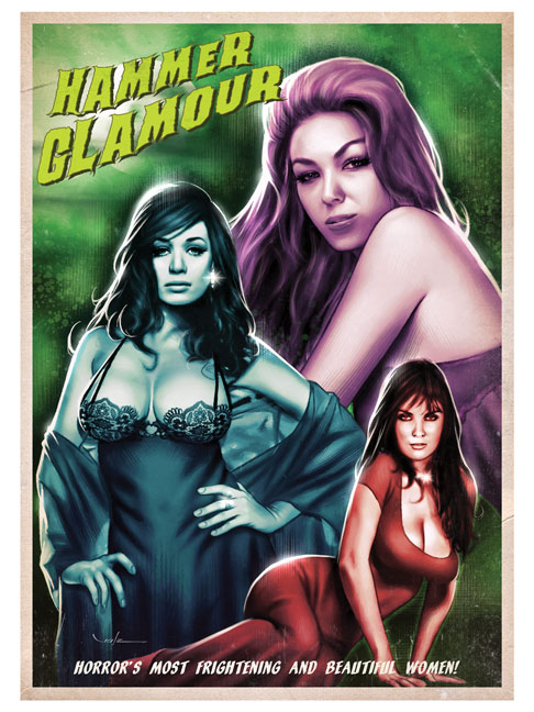"""Horror Glamour"" from Glamourama - The Pin-Up Art of Carlos Valenzuela"