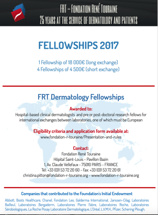 FRT Fellowships 2017 - 3 weeks left to apply!