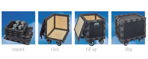 New collapsible flight case