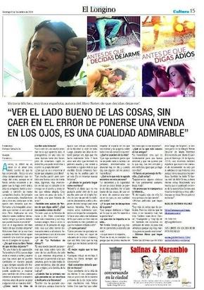 Victoria Vílchez en El Longino de Chile