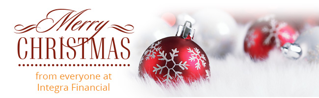Merry Christmas from everyone at Integra Financial