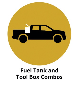 Fuel tank and tool box combos