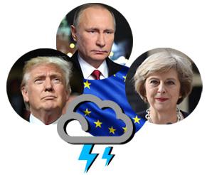 Trunp, Putin and May