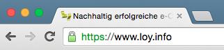 Beispiel SSL https://www.loy.info