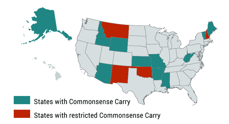 Map of Commonsense Carry States