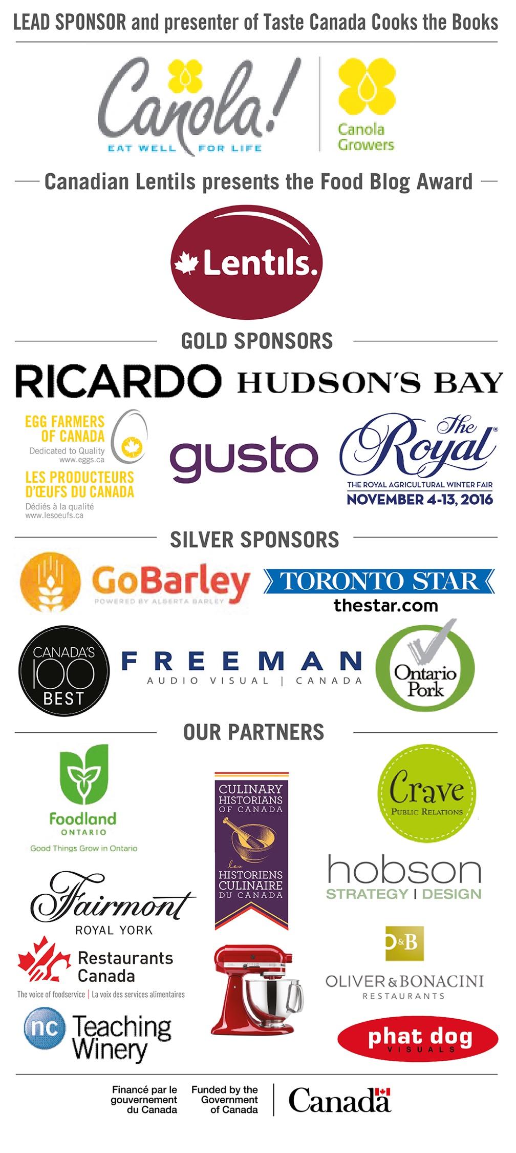 Taste Canada Awards Winners