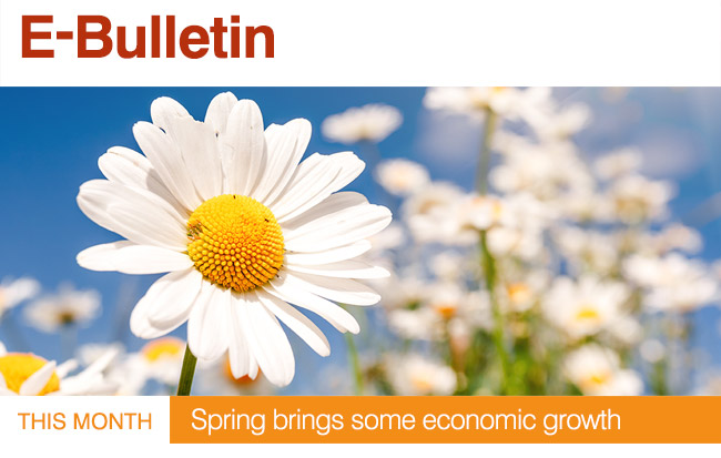 This Month : Springs brings some economic growth