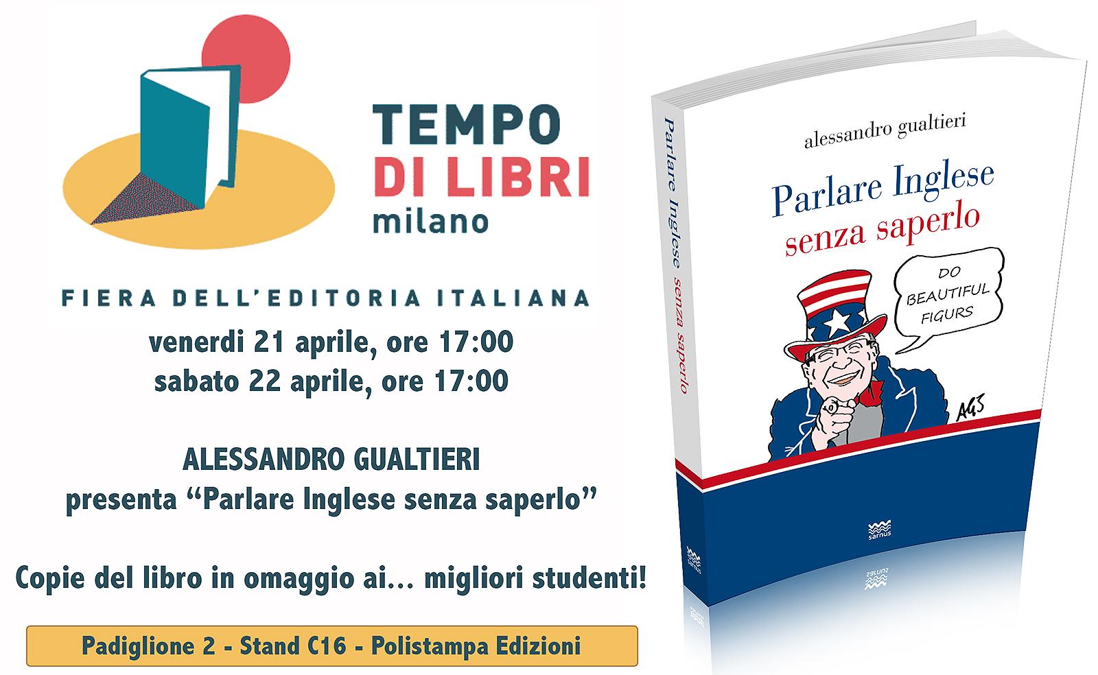 """Milano. Alessandro Gualtieri a """"Tempo di Libri"""""""