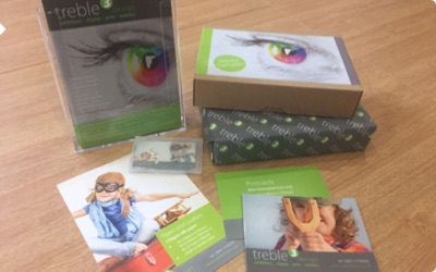 Brochure and sample pack