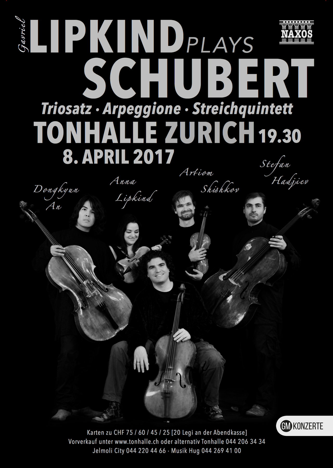 Lipkind plays Schubert · Tonhalle Zürich · April 8