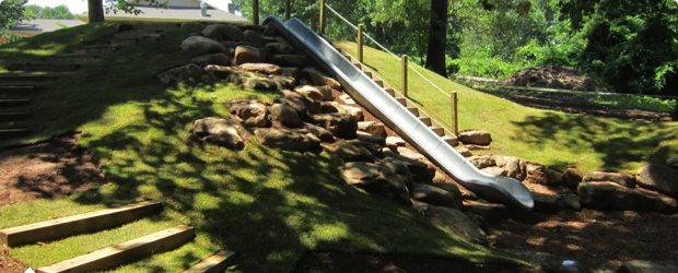 how to build an embankment slide
