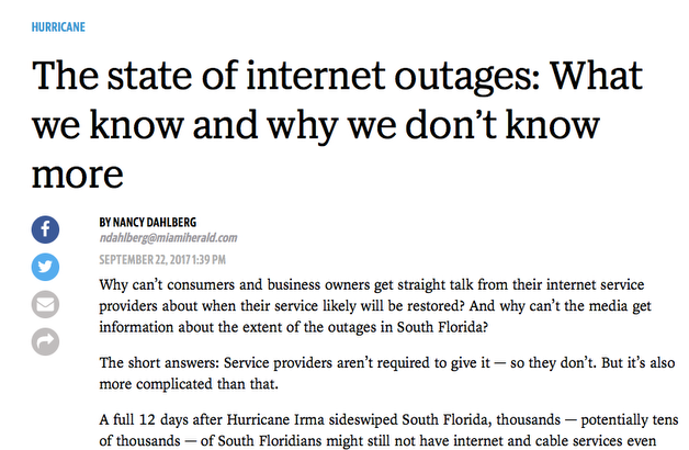 Florida Communications Headline