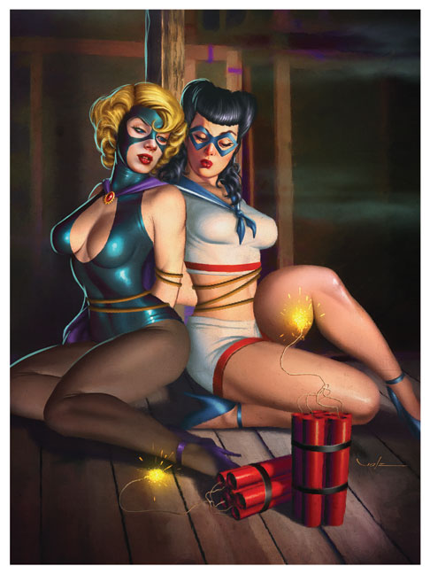 """A Deadly Trap"" from Glamourama - The Pin-Up Art of Carlos Valenzuela"