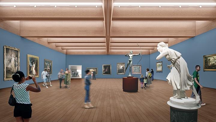 Design plans for the Princeton University Art Museum