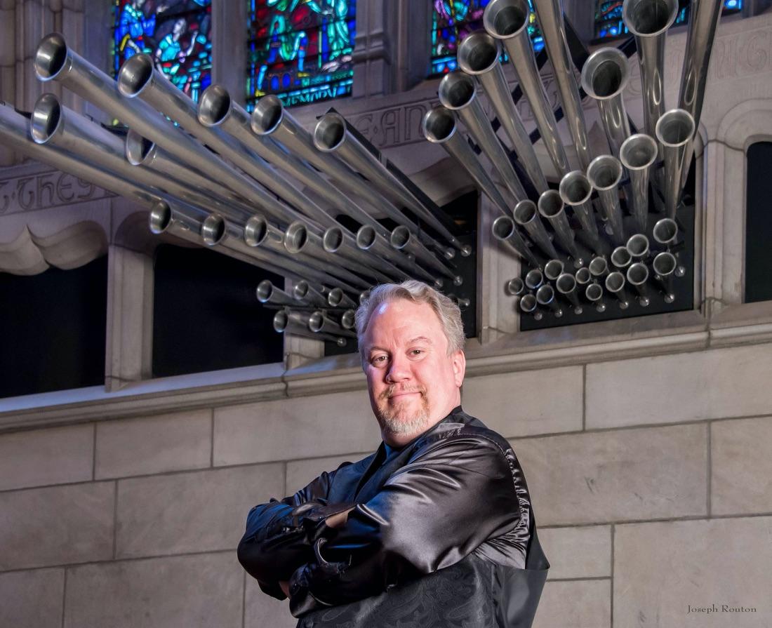 University organist Eric Plutz